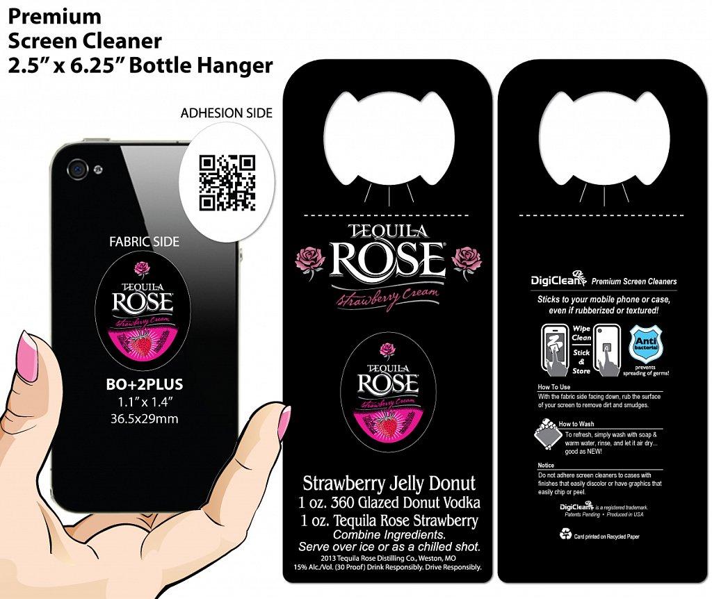 Tequila Rose Strawberry Cream DigiClean Bottle Hanger